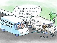 CARTOONS: Mark David's reshuffle is fuelling speculation