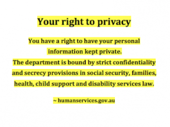 Centrelink respects your privacy — except in media releases