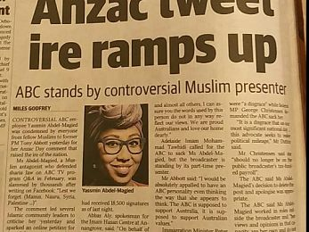 ANZAC Day, Yassmin and Australia's rising xenophobia: Who we are?