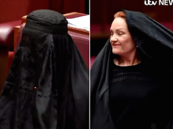 Pauline Hanson's full burqa and the rise against fascism