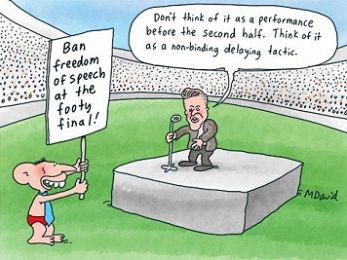 CARTOON: Abbott at the Grand Final