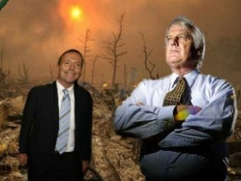 Ian Plimer follows up Tony Abbott's climate science denialism act in London