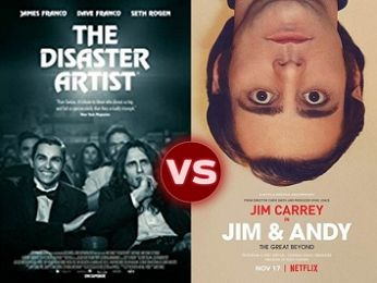 Screen Themes: The Disaster Artist vs Jim & Andy: The Great Beyond