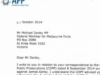 EXCLUSIVE: AFP refer James Ashby to CDPP over perjury allegation