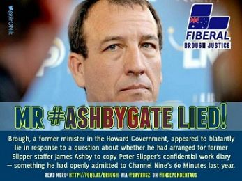 Malcolm Turnbull: Don't soil your ministry with Ashbygate liar Brough