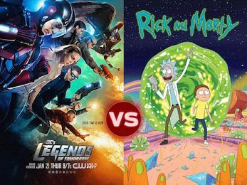 Screen Themes — Heroes of Tomorrow vs Rick & Morty
