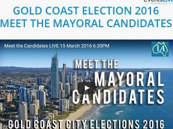 Watch tonight's Gold Coast mayoral debate live online from 6.30pm