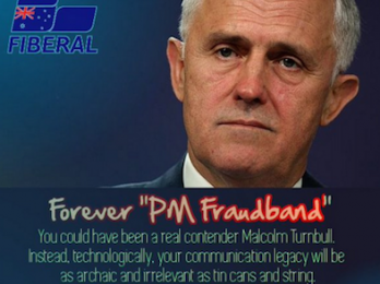 Corangamite door stop: #Fraudband mess blunts PM's election pitch