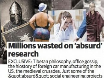Daily Telegraph: If you're going to ridicule research do your homework