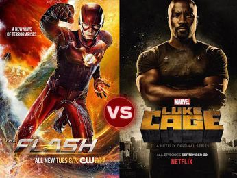 Screen Themes  — The Flash vs Luke Cage