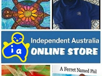 New books and Australian made polo shirts in the IA store