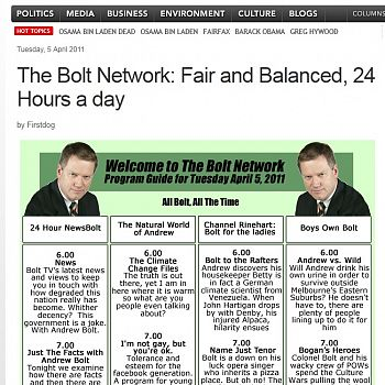 'Fair and balanced' on the Andrew Bolt Report
