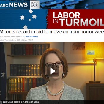 The traditional media and Gillard