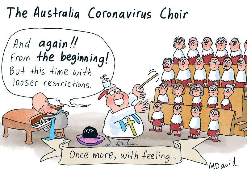 Mark David and the coronavirus choir