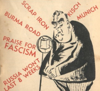 "'Pig Iron"" Bob Menzies, from a 1943 Labor election pamphlet."