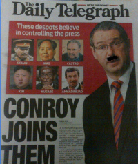 Today''''s Daily Telegraph (plus Hitler moutstache): projection, much?