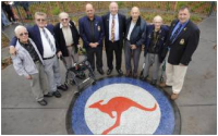Charlie Lowles (centre) with fellow veterans.