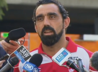 AFL star Adam Goodes takes a welcome stand against racism.