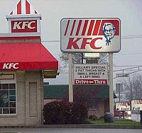 Rip off! The original Hilary Clinto KFC meme.