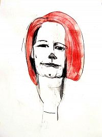 Former prime minister Julia Gillard: was knifed by Shorten, although she also owed her position to him after he knifed Kevin Rudd.