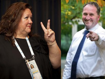 Gina's $700k BJ, Tony Abbott and the businessman with two names