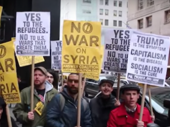 Protesters denounce U.S. strike on Syria