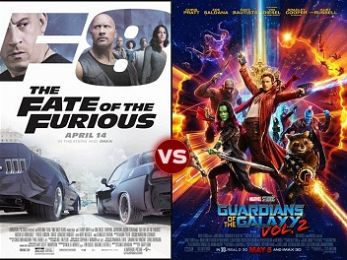 Screen Themes: The Fate of the Furious vs Guardians of the Galaxy Vol. 2