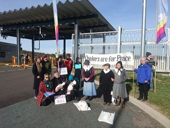 Protest at 'secret' ACT military base: 'Peace Witness in a Time of Endless War'