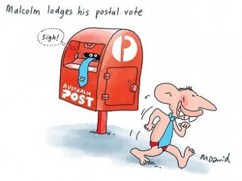 CARTOON: Malcolm's postal vote