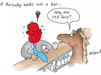 CARTOON: Barnaby's red face
