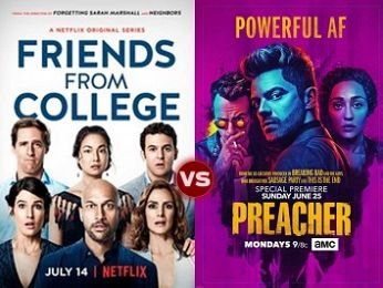 Screen Themes: Friends from College vs Preacher (Season Two)