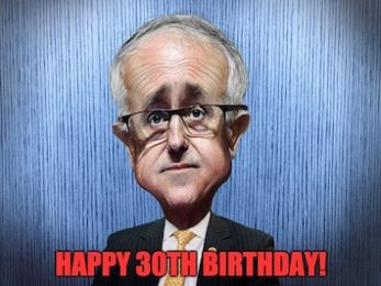 Malcolm turns 30