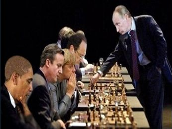 Putin grand master in global game of strategy and domination