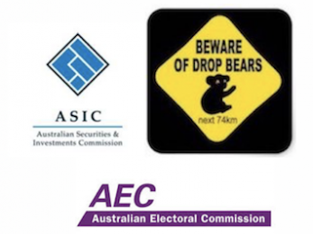 ASIC, the AEC, James Ashby's One Nation aircraft and other drop bears
