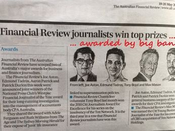 Rank bank Fin soup! Fake news at the Australian Financial Review