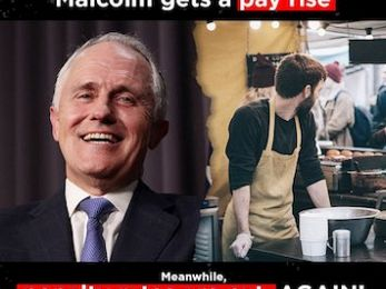 Turnbull's feigned class warfare outrage