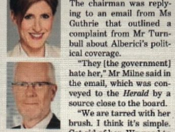 EDITORIAL: Corrupting the ABC: Milne email reveals Guthrie sacking politically motivated