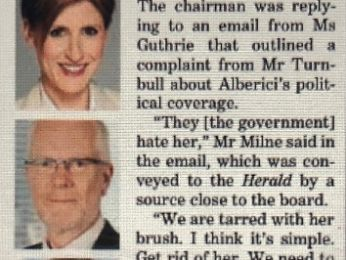 Milne email reveals Guthrie sacking to be politically motivated