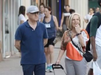 Malcolm and Lucy Turnbull do Manhattan in lycra