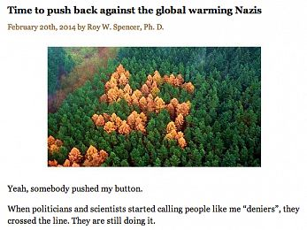 Roy Spencer calls people who accept climate science 'Nazis'