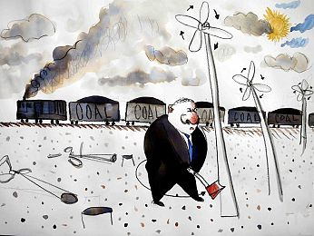Joe Hockey finds wind turbines offensive
