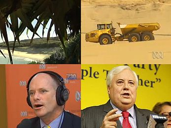 Clive Palmer, Jeff Seeney and Campbell Newman's Straddie donation