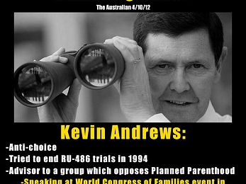 The Liberals, Kevin Andrews and the anti-gay, pro-life activists