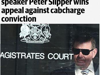 Slipper not guilty as the political wind changes