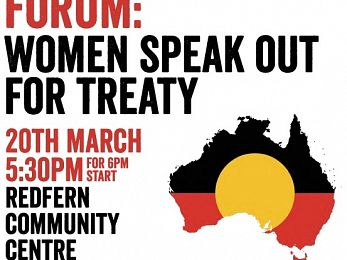 First Nations women speak out about Treaty at Redfern (Friday 21/3/15)