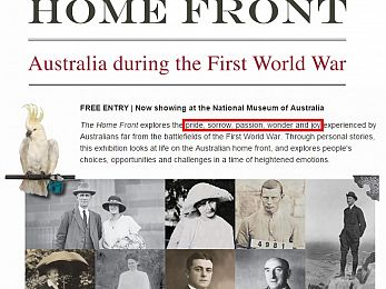 Constructing emotions: Australia leads world in WWI commemoration spend