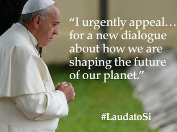 Pope Francis recasts debate on climate change
