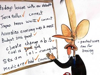 Tony Abbott and his abusive government
