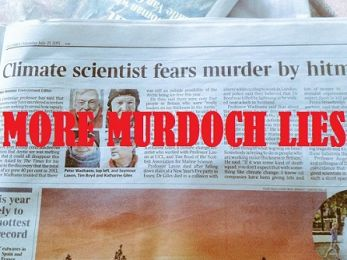Murdoch's Times verbals climate scientist as conspiracy theorist
