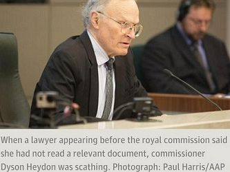 A man of integrity? Dyson Heydon and his Trade Union Royal Commission
